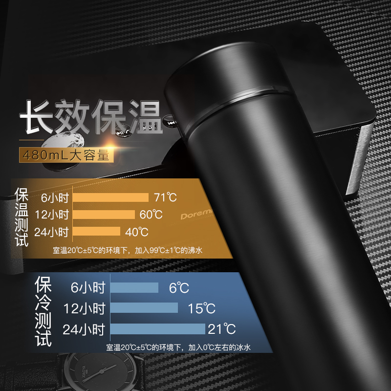 Business thermos cup, male and female students portable cup, large capacity stainless steel vacuum kettle, tea cup, custom lettering