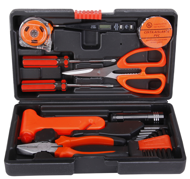 Harbaugh electrical household hardware electronic telecommunications kit toolbox multimeter screwdriver tool suite