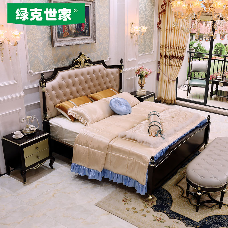 Jane wood bed double bed 1.8 meters of Chinese modern minimalist style master bedroom villa luxury wedding bed bed