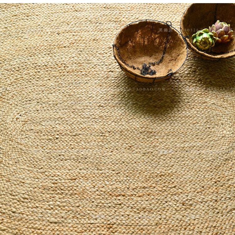インドの楕円じゅうたんの亜麻レストランを予約する人!優立わら手作りジュートサイザルアサ客間