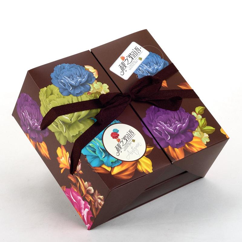 Kuchen box VERPACKUNG high - end - 8 - kapseln mondfest neUe hardcover Hand Harte box - geschenk - box