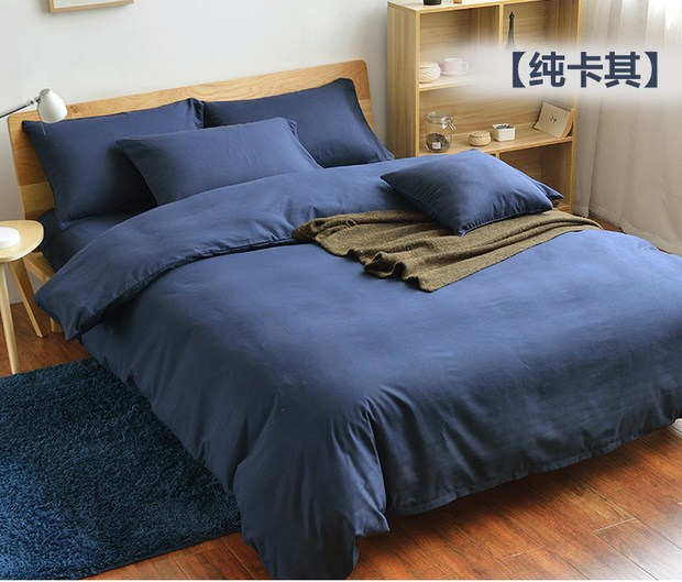 Four sets of 80 high-end Tencel jacquard plain high-grade pure naked anti mite bedding quilt