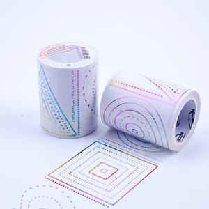 三渡百搭七彩金烫金和纸胶带原创手帐装饰基础花纹贴纸点点圈圈