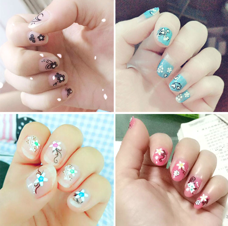 A full set of diamond printing beginners nails nail drill apprentice Decal kit Manicure self combination