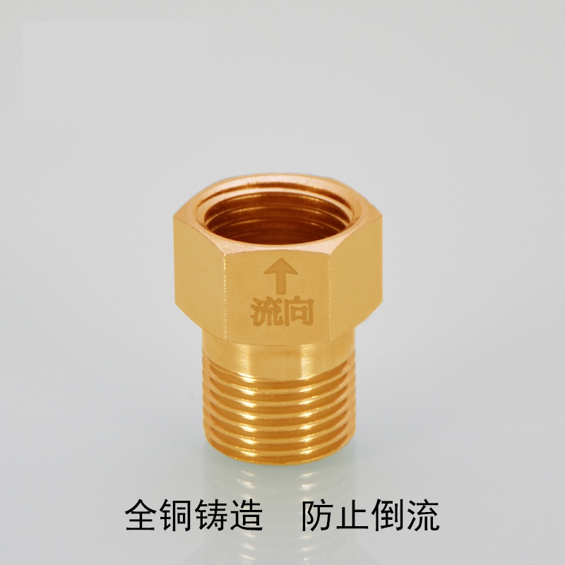 Copper 4 toilet water heater backflow check valve check valve sealing joint 6 points to the wire wire