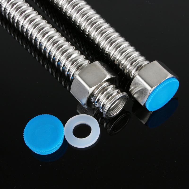 Tubos de metal corrugado de acero inoxidable 304 tuberías 4 grifos mangueras de calentadores de agua a gas de uso doméstico de agua