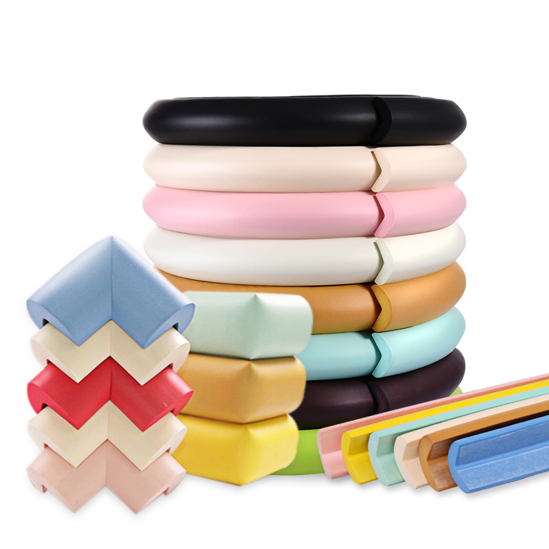Decorative universal child soft collision bar, right angle of rubber protection, corner table anti scratch strip, Sticker Anti rub hemming