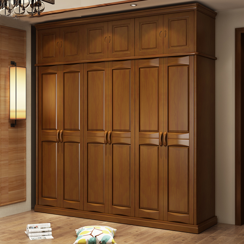 Modern oak wardrobe 3 door Chinese four door assembly wardrobe, white walnut walnut beech closet furniture store special price