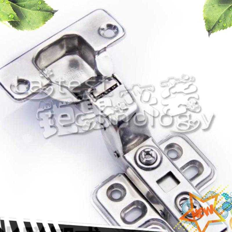Small fresh door hinge hinge, stainless steel hydraulic buffer damping cabinet, door cabinet hinge hardware fittings