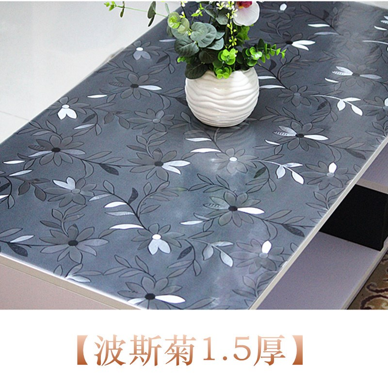 VC soft glass desk, computer table cloth, transparent TV counter, face mat, waterproof tea table, rubber pad, crystal mat