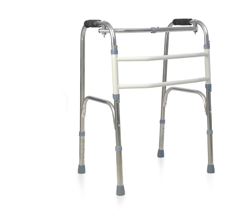 han höll på att gå walker walker går till biträdande ram av rostfritt stål för rehabilitering - walker.