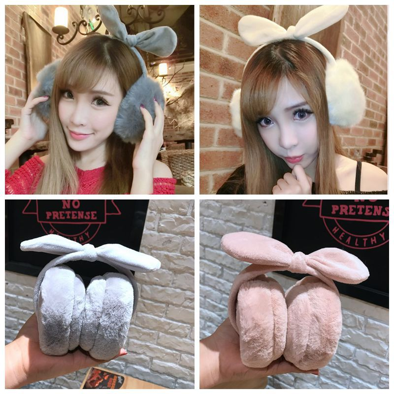 Korean fashion jewelry Korean winter warm lovely bowknot barrette hairpin Earmuffs Ear bag sell adorable ear warm