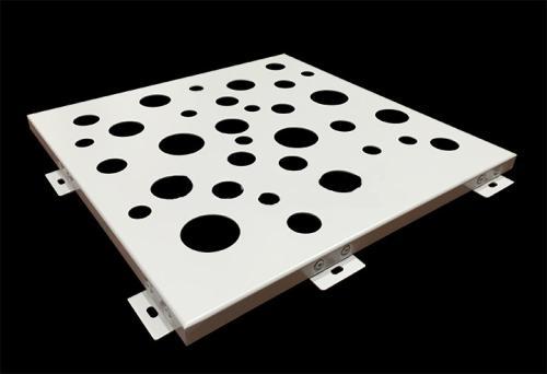 Um tetO de alumínio parede de Cortina de alumínio folheado de superfície plana, Branco