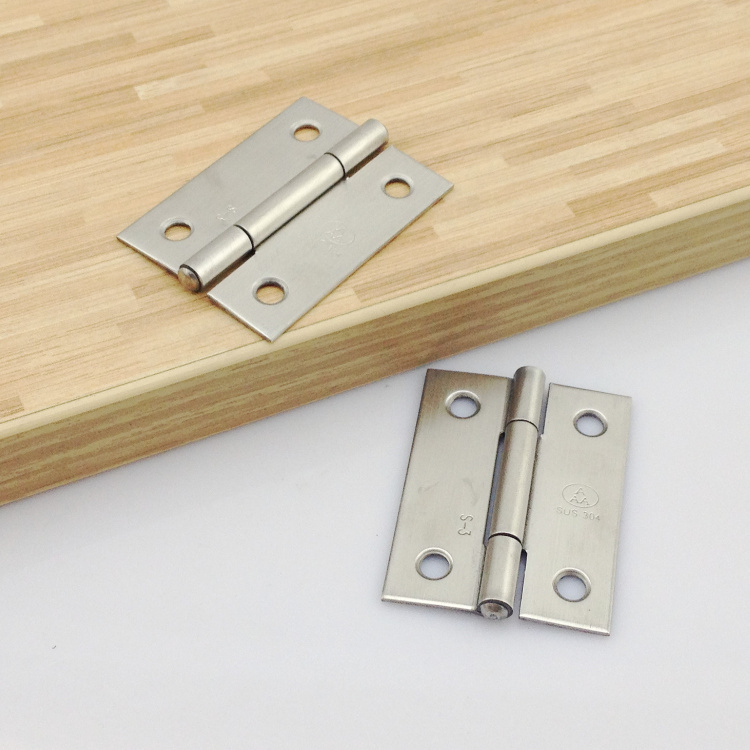 Aaa auténtico acero inoxidable 304 / bolsas de regalo de madera de 2 pulgadas de bisagras pequeñas bisagras bisagras para puertas de muebles