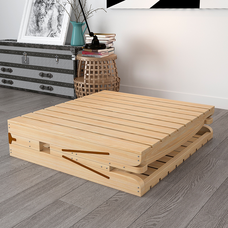 1.2 folding bed, single bed, adult easy wood bed, bed for children, household board, economical double pine