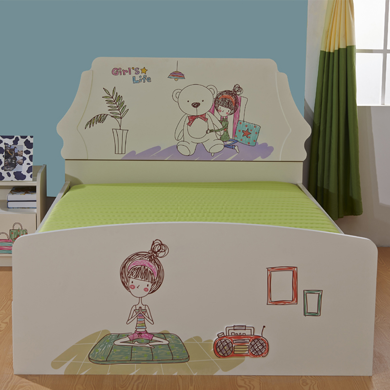 Children Tuochuang single bed 1.5 meters double bed boys and girls color can be customized pattern A05