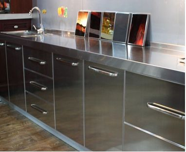 304 stainless steel kitchen cabinet bath cabinet waterproof antibacterial ultra environmental protection not rust and leakage of professional custom