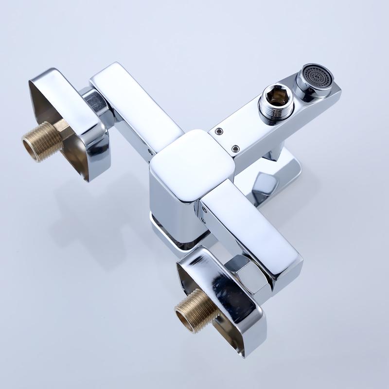 Bathroom shower suite bathroom faucet flush faucet water heater triple mixing valve