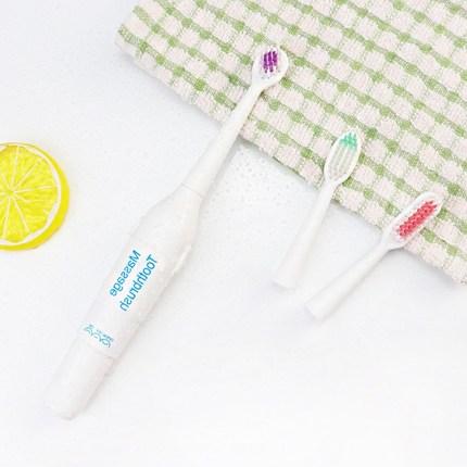创意大号电动牙刷 可替换软毛成人牙刷 卡装三件套