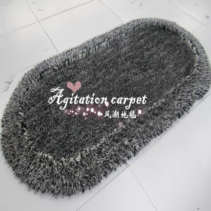 Modern simple elliptic table carpet stretch yarn hair covered with thick small bedroom bedside tatami mats