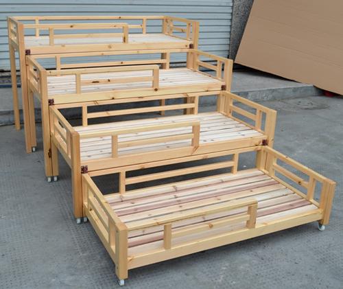 樟子松木造4階ツイ抽伸機子供用ベッド幼稚園専用ベッド午ベッドで寝るベビーベッド