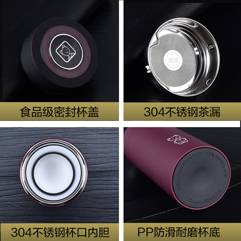 Excellent quality stainless steel vacuum cup, straight cup body, custom print lettering LOGO
