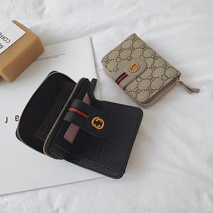 2019新款小巧卡包钱包一体包韩版拉链搭扣女式多卡位短款风琴卡套