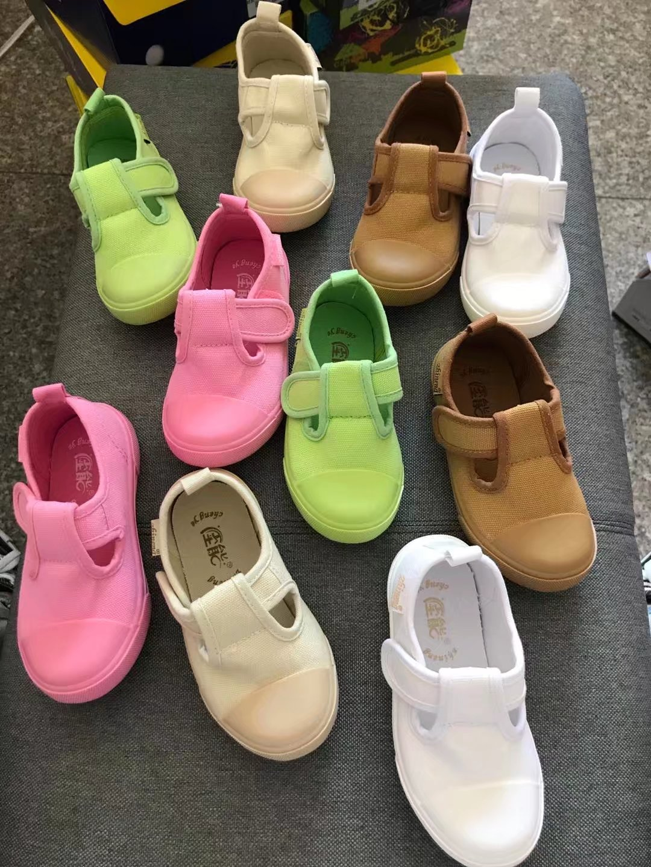 外贸男女童彩色糖果色布鞋儿童帆布鞋幼儿园室内运动会透气软底