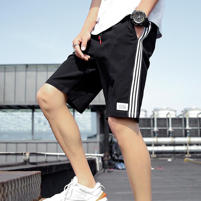短裤男夏装运动潮流男生宽松沙滩中裤夏季薄款休闲七分五分裤子潮