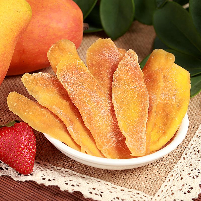 De gouden mango 's gekonfijte vruchten fruit pastorale producten vrije snacks.