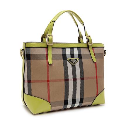 单肩包女包手提包斜跨包帆布包配皮欧美时尚托特包大通勤包宴会包