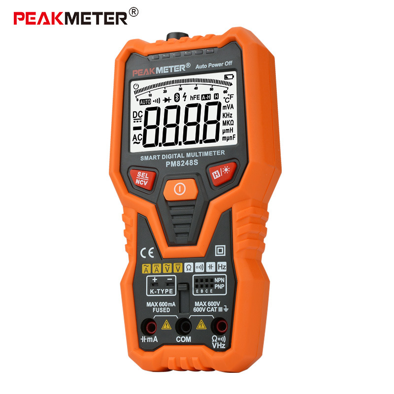 واى PM8247S ذكي متعدد الرقمية عالية الدقة لمنع حرق كهربائي مقياس التيار الكهربائي الرقمية نوع العالمي الجدول