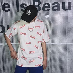 2018夏装新款夏季韩版字母印花宽松短袖嘻哈T恤-C207-1812-P38