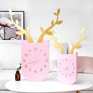 客厅创意挂钟北欧木质儿童房卧室静音时钟挂表现代简约壁挂钟表