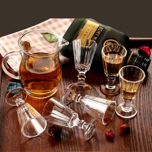 玻璃酒具套装小白酒杯分酒器壶高脚杯烈酒杯一口云吞杯酒盅家用