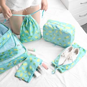 旅行收纳袋套装7件套行李箱衣物整理袋内衣包旅游衣服鞋子收纳包