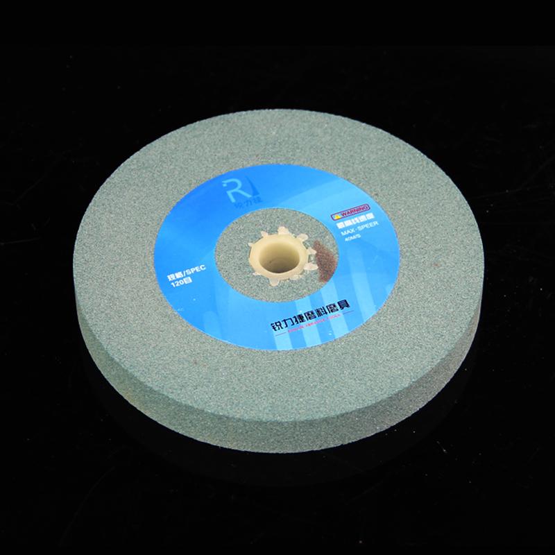 Schleifer MIT weißen Korund Grüne Kohlensäure quarzsand, runde tabletten 125mm150mm200mm Kleine schleifscheibe