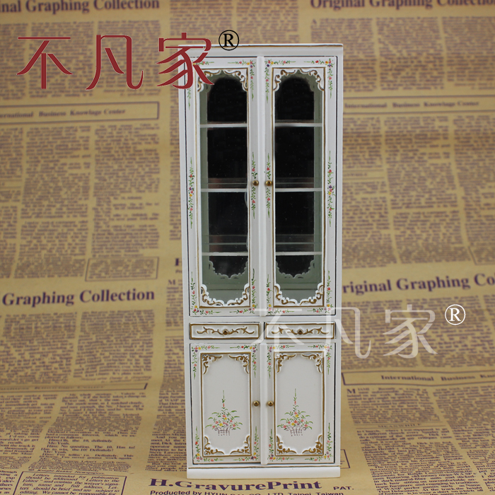 Het Huis van 'dollhouse Miniature1:12 mini - mooi meubilair dubbele glas