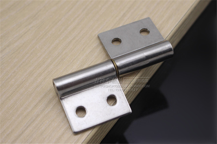 Thick 304 stainless steel 2 inch detachable flag flag hinge hinge hinge small fire door hinge