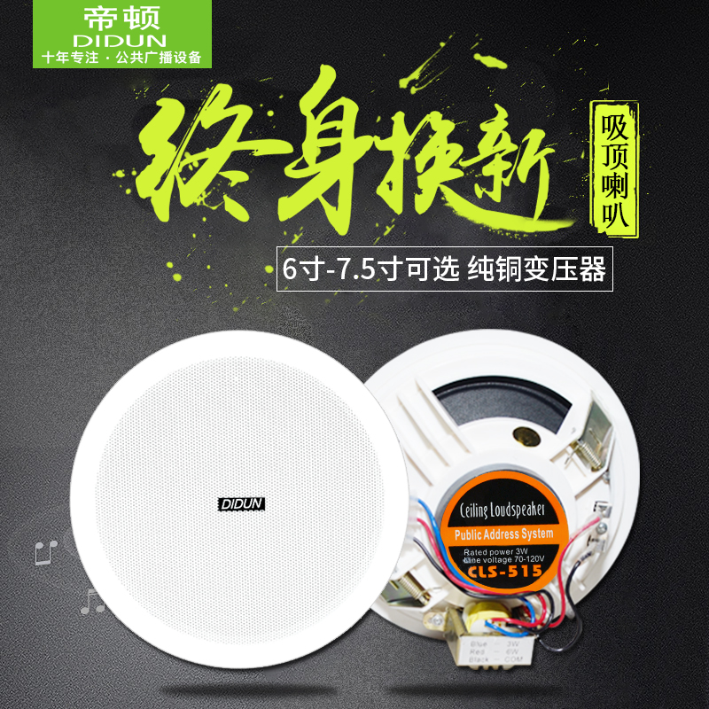 Home campus background music pressure suction top trumpet package ceiling horn public radio sound box