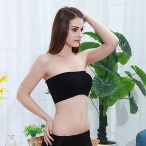 3件 抹胸内衣防走光聚拢裹胸式女白色打底短款无肩带上托文胸性感