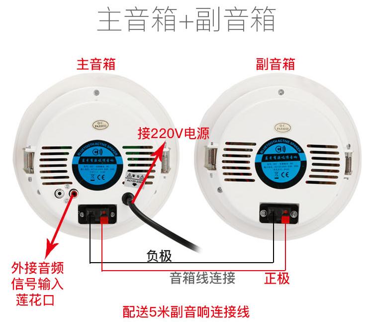 La música de fondo de techo de sonido Bluetooth activa set Wireless Home viruela oradores tiendas techo altavoz
