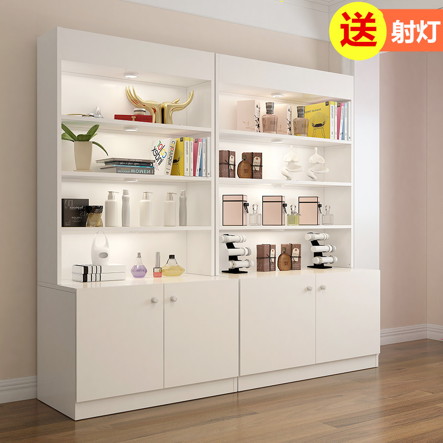 Decoration sample showcase, landing home display frame, combination simple double door art table freezer multi-function