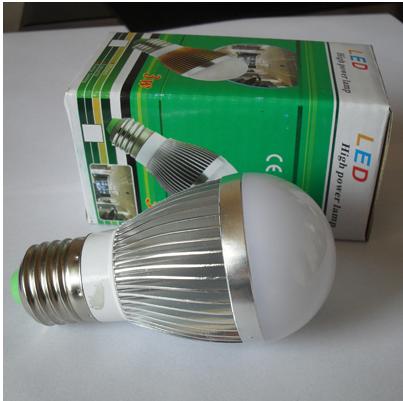 3 пакет mail под алюминий колба лампы светодиодные энергосберегающие лампы большой мощности прожекторов машину алюминиевый корпус 3W 白光暖 оспа