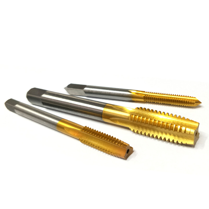 Germany imported titanium coated taps full straight groove grinding machine taps coating hand tapping for M3-M12