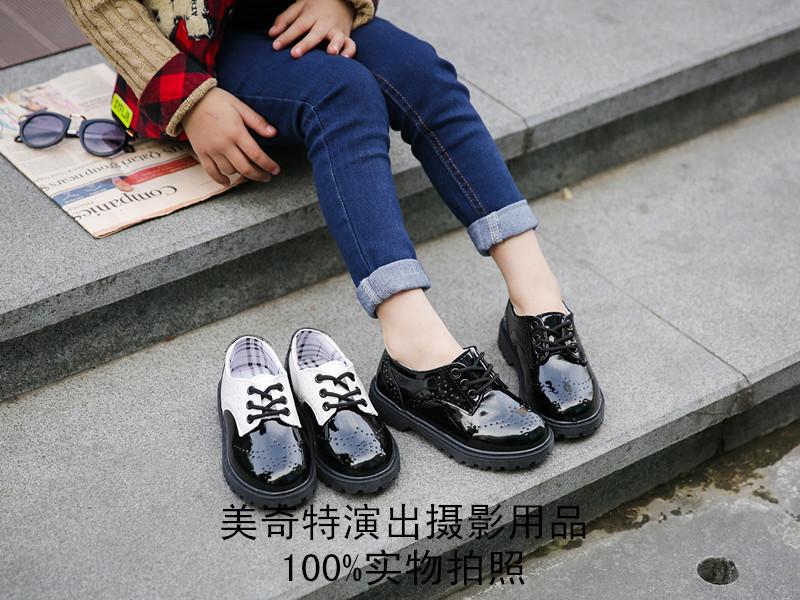 儿童男童皮鞋黑色皮鞋