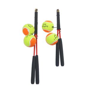 老年人广场舞 健身球甩甩球 带手柄带线网球 成人锻炼的弹力球