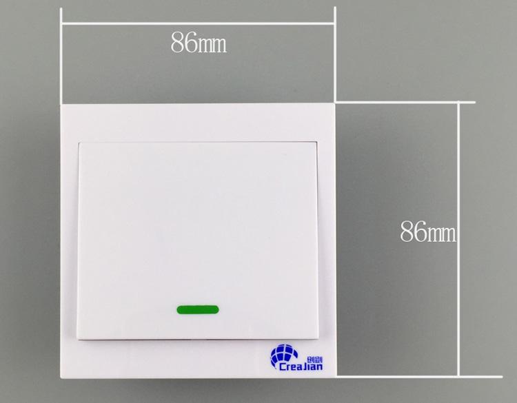 den enda vägen fjärrkontroll utan ledningar för fjärrkontroll av hushållens tak lyktor ad hoc - panelen dubbel kontroll