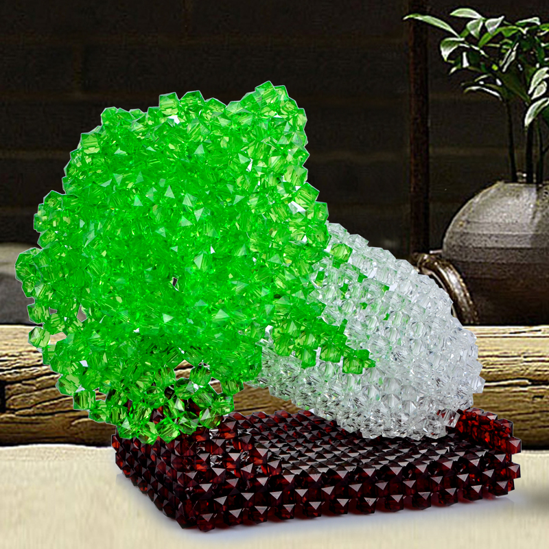 They weave beads crystal beads beads jewelry package material made of cabbage