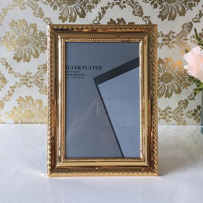 新款欧式轻奢金色金属相框5寸6寸7寸8寸10寸12寸摆台挂墙礼物包邮